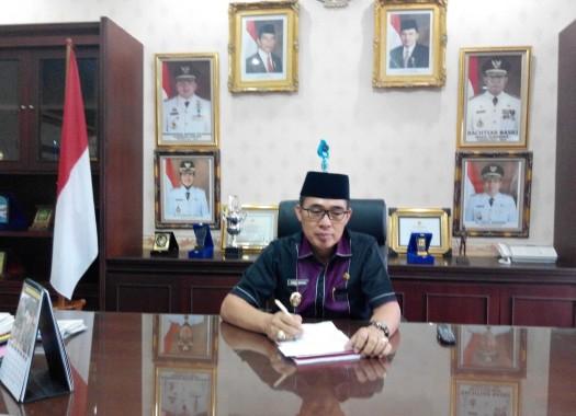 Wakil Bupati Lampung Timur Zaeful Bukhari saat ditemui Jejamo.com di ruang kerjanya, Rabu, 29/06/2016.  | Suparman/Jejamo.com