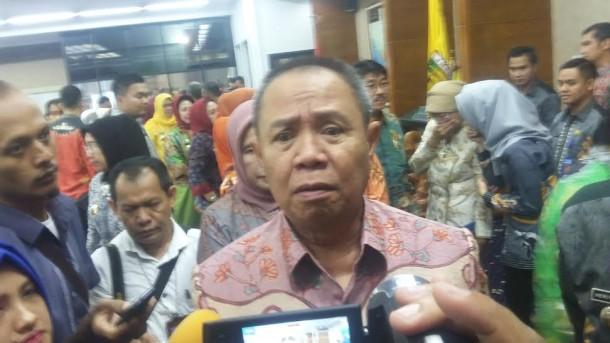 Wakil Gubernur Lampung, Bachtiar Basri usai acara penyerahan SK pensiun Arinal |Tama/jejamo.com