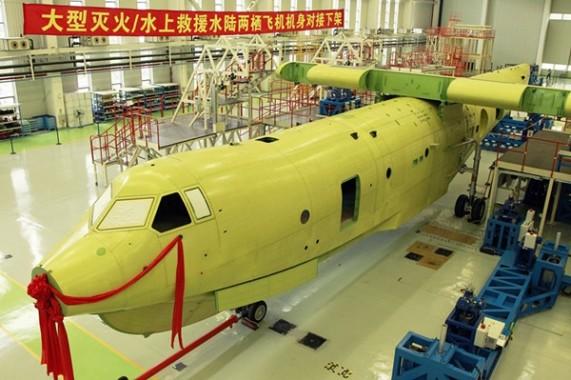 Cina Bangun Pesawat Amfibi Terbesar di Dunia