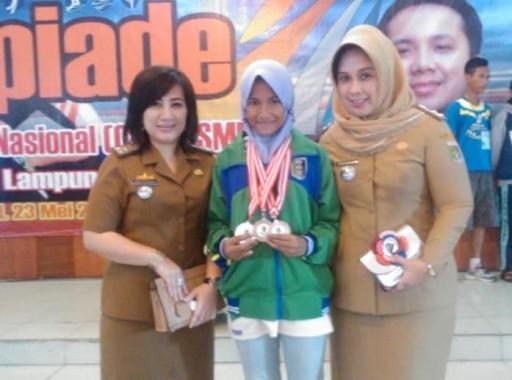 Siswi Asal Lampung Timur Zahrani Abdillah Sukses Juara 2 O2SN Tingkat Provinsi Lampung