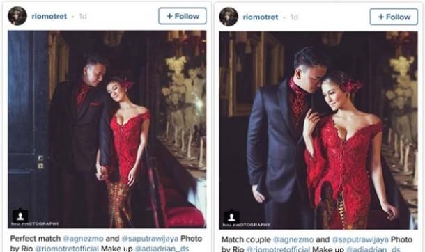 Inikah Foto Pre-Wedding Agnes Monica dan Wijaya Saputra?