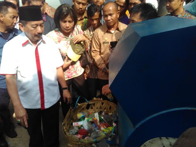 Wali Kota Bandar Lampung Herman HN Hadiri Launching Bank Sampah di Kota Karang