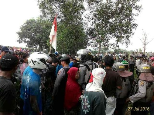Breaking News: Eksekusi Lahan Desa Gedung Dalem, Lampung Timur Berakhir Ricuh