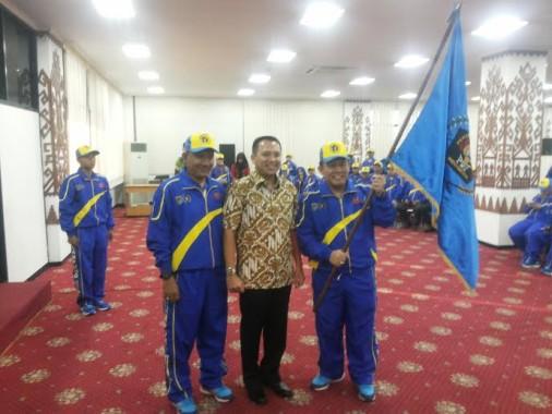 Gubernur Lampung Lepas Kontingen Porwanas Lampung ke Bandung