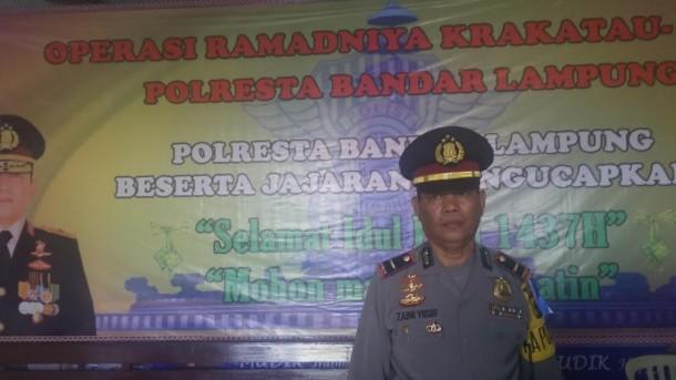 Kepala Pos Pengamanan Terminal Rajabasa Ipda Zaini Yusuf. | Arif Wiryatama/Jejamo.com