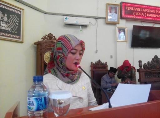 Bupati Lampung Timur menyampaikan Sambutan | Parman/jejamo.com