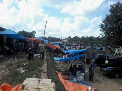 Suasana Pasar Ogan Lima, Kecamatan Abung Barat, Lampung Utara, Jumat, 8/7/2016. | Prika/Jejamo.com