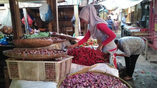 Usai Lebaran Sejumlah Harga Bahan Pokok di Lampung Utara Mulai Normal