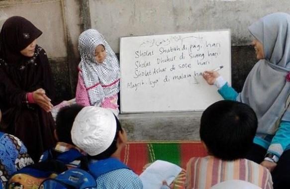 terakhir Pesantren Ramadan Musala Nurul Barakah RW 09 Banjarsari Kecamatan Metro Utara. | Suwanda/Jejamo.com