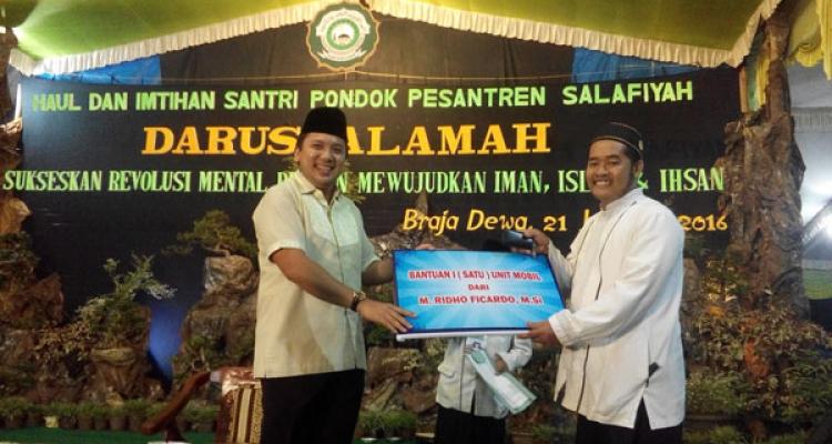 Imtihan di Pesantren Darussalamah Desa Brajadewa, Kecamatan Way Jepara, Lampung Timur | ist
