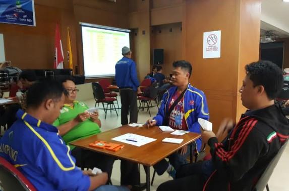 Tim Bridge Lampung sedang bertanding dalam  porwanas | ist