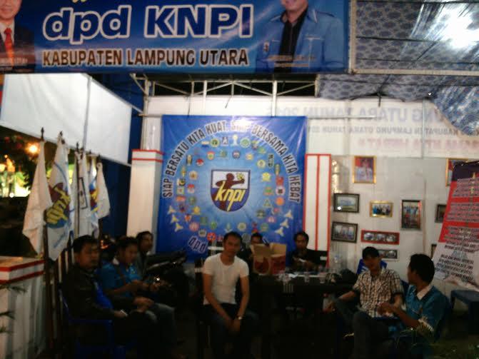 Stand DPD KNPI Lampung Utara pada pameran pembangunan | Rengki/jejamo.com