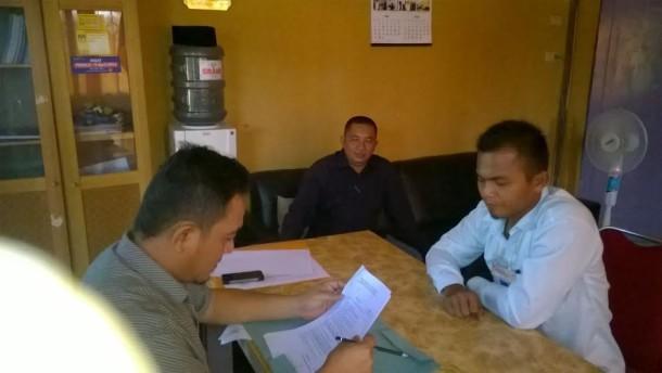 Pelaksanaan tes wawancara calon anggota PPK Tulangbawang Barat yang diawasi Paswaslu setempat, Minggu, 3/7/2016. | Mukaddam/Jejamo.com