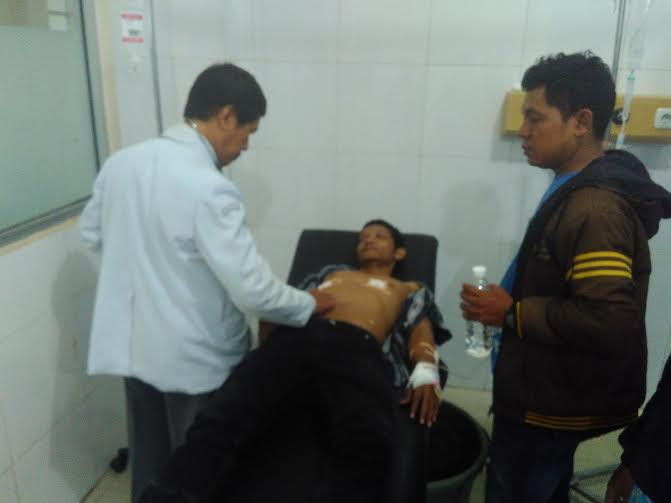Nurdiyanto (32), sopir PT Istana Jaya, korban penusukan  yang dilakukan rekan kerjanya sendiri yaitu Hasan  | Andi/jejamo.com
