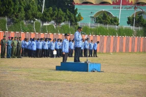 Upacara di Lapangan Korpri Pemprov Lampung. | Ist