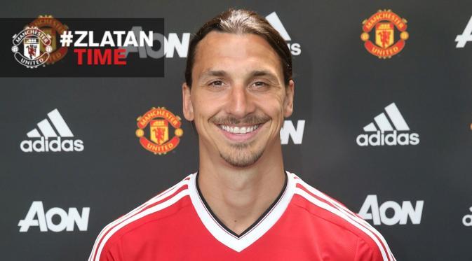 Striker anyar MU Zlatan Ibrahimovic | ist