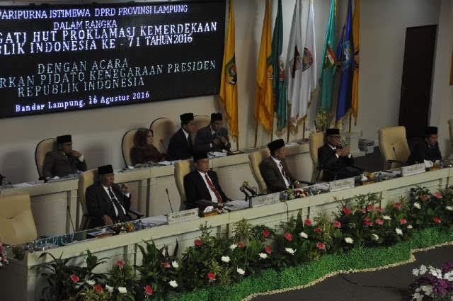 Susana Rapat. Paripurna istimewa mendengarkan Pidato Kenegaraan Presiden Republik Indonesia Joko Widodo dalam Rangka Hut RI Ke -71 | Sugiono/jejamo.com