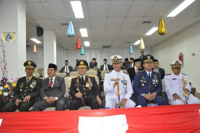 Rapat Paripurna istimewa DPRD provinsi lampung dihadiri oleh seluruh pejabat eselon 1,2,3,4 dan Forkopimda | Sugiono/jejamo.com