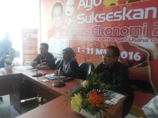 Konferensi pers BPS Lampung, Rabu, 3/8/2016 | Sugiono/jejamo.com