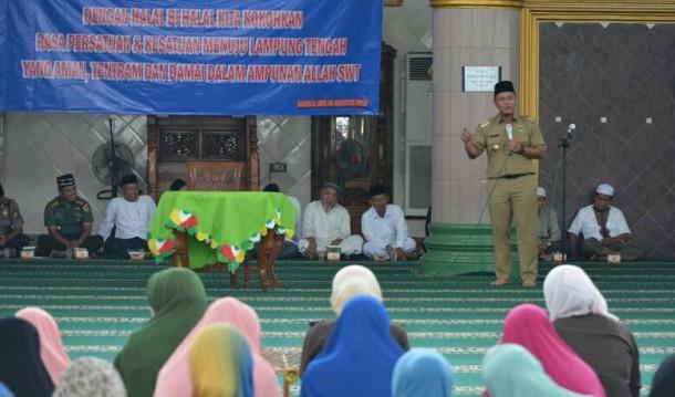 Bupati Lampung Tengah Pastikan Masjid Istiqlal Bandarjaya Direnovasi Tahun Depan