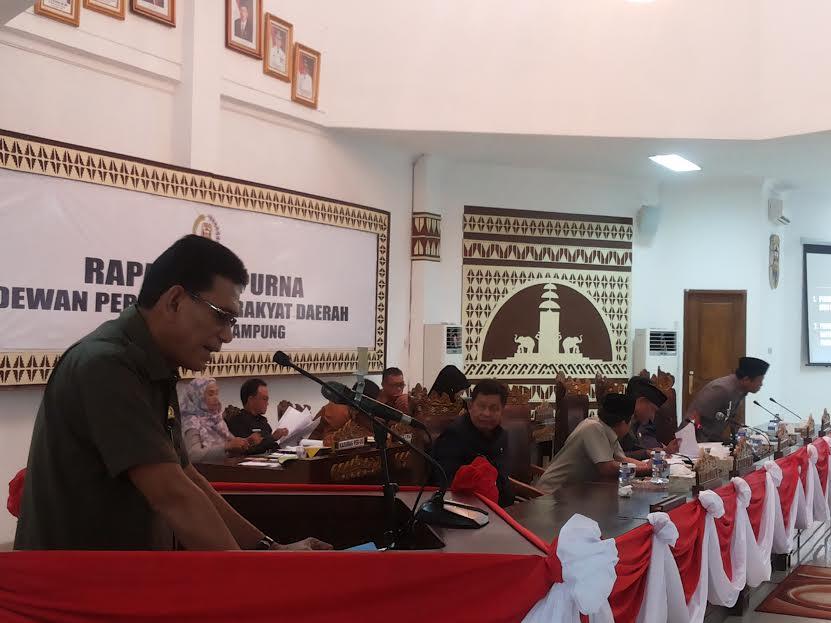 Rapat Paripurna DPRD Kota Bandar Lampung | Sugiono/jejamo.com