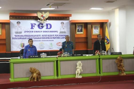 Wakil Gubernur Lampung Bachtiar Basri menghadiri FGD soal kelistrikan di Pemprov Lampung, Kamis, 4/8/2016. | Ist