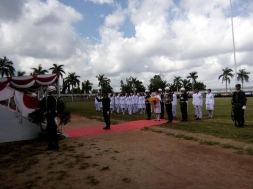 Upacara HUT Ke-71 RI di Lampung Utara Khidmat dan Lancar