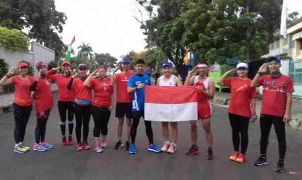 HUT Ke-71 RI, Alumnus SMAN 2 Bandar Lampung Ini Pilih Lari 17 Km Bersama Komunitas Pacers
