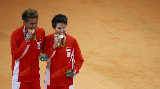 Tontowi Ahmad dan Liliyana Natsir  merebut medali emas Olimpiade 2016 Rio | Reuters