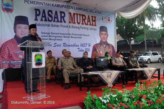 Ringankan Beban Masyarakat, Pemkab Lampung Selatan  Buka Pasar Murah di Kalianda
