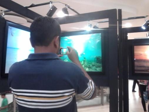 Pameran foto dalam rangkaian kegiatan Lampung Festival Krakatau 2016 di Mall Boemi Kedaton, Bandar Lampung, diminati para pengunjung | Widya/jejamo.com