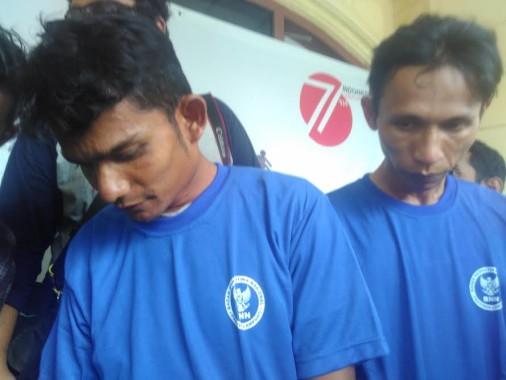 Tersangka Mawardi (kiri) dan Ferry Setiawan | Andi/jejamo.com