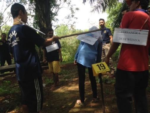 Polres Lampung Utara Gelar Rekonstruksi Pembunuhan Vina Lindia