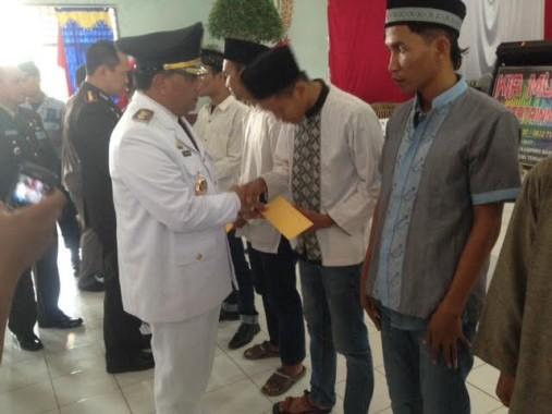 HUT ke 71 RI, 12 Napi di Lampung Utara Terima Remisi Bebas