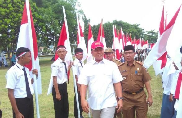 Sejuta Bendera Hari Ini Berkibar di Lampung Tengah