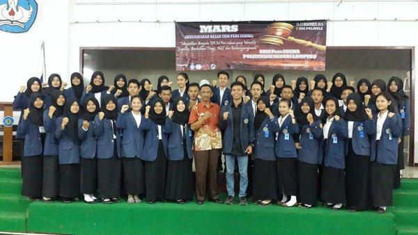 UKM Pers Sukma Polinela Gelar Lomba Mading SMP-SMA Se-Lampung