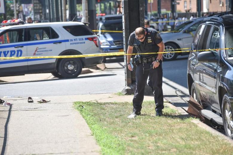 Lokasi penembakan terhadap Maulama Akonjee dan asistennya Thara Uddin.  | David Wexler/For New York Daily News