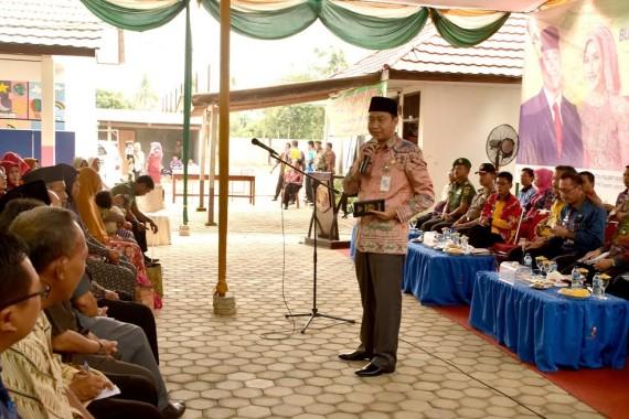 Bupati Lampung Utara H Agung Ilmu Mangkunegara melakukan Kunjungan Kerja (Kunker) ke Desa Way Lunik Kecamatan Abung Selatan | Lia/jejamo.com