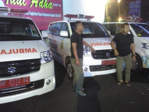 Ambulans gratis Pemkot Bandar Lampung. | Andi Apriyadi/Jejamo.com