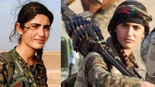 Angelina Jolie dari Kurdistan Dilaporkan Tewas Saat Berperang Melawan ISIS