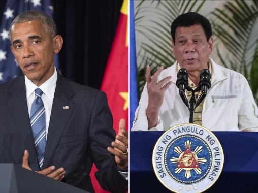Presiden Filipina Rodrigo Duterte Caci Maki Barack Obama