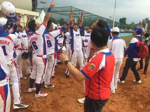 Kalahkan Tuan Rumah PON XIX Jawa Barat, Tim Bisbol Lampung Tatap Final Lawan DKI Jakarta Rabu Ini