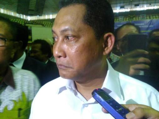 Kepala Badan Narkoba Nasional Republik Indonesia, Komjen Budi Waseso, usai memberikan kuliah umum di GSG Unila, Kamis, 22/9/2016 | Andi/jejamo.com