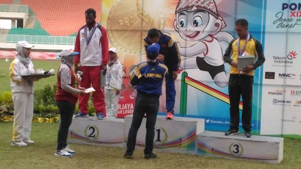 Kalah Lari, Atlet Lampung Zakaria Malik Raih Emas Dasalomba PON XIX Jabar, Kok Bisa?