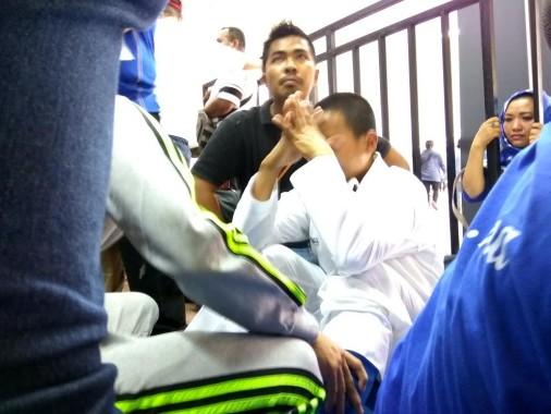 Karateka Lampung Fitrah Satria Digugurkan Wasit