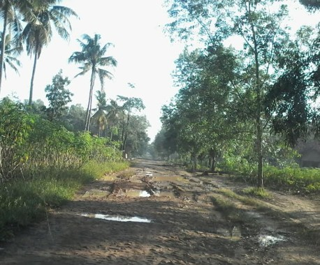 Jalan Desa di Lampung Utara Rusak Berat, Masuk Tubaba Mulus