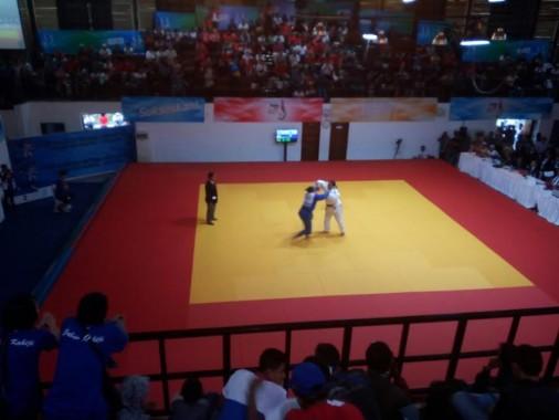 Atlet judo Lampung bertanding di GOR Saparua, Bandung | ist