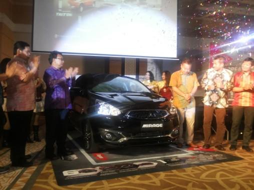 Mitsubishi New Mirage Diluncurkan di The 7th Hotel Lampung