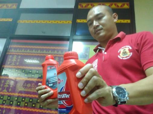 Polda Lampung Sita Seratusan Dus Oli Palsu dari Tulangbawang dan Bandar Lampung