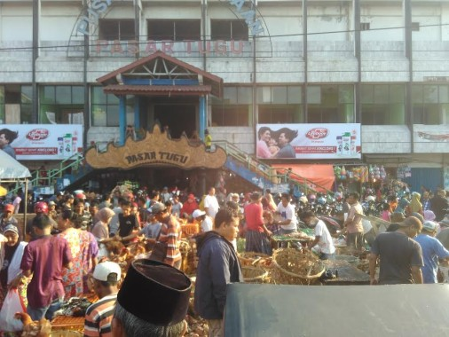 Jelang Idul Adha 1437 H, Pasar Tugu Bandar Lampung Dipadati Warga